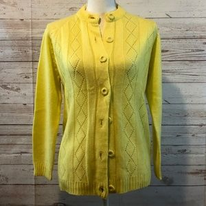 Vintage bright yellow sweater